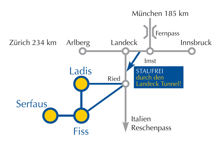 How to get to the Landhaus Peter-Paul in Fiss