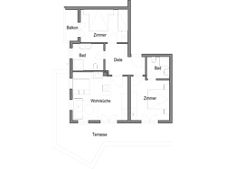 Floorplan apartment Ziege, Landhaus Peter-Paul in Fiss
